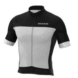 Biemme koszulka GRANSASSO czarno biała XL