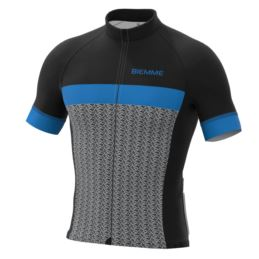 Biemme koszulka MORTIROLO czarno niebieska XL
