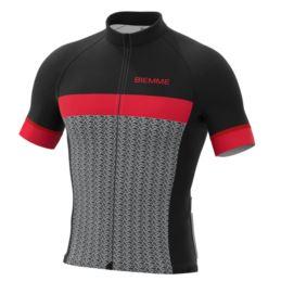 Biemme koszulka MORTIROLO czarno czerwona 3XL
