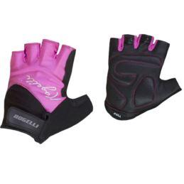 Rogelli rękawiczki DOLCE czarno różowe S