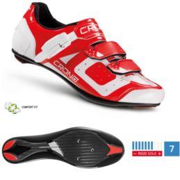 CRONO buty szosowe CR-3 czerwone 45 nylon