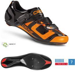 CRONO buty szosowe CR-3 czarno pomar. 44,5 nylon