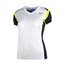 Rogelli koszulka EABEL S biało żółto czarna