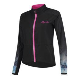 Rogelli kurtka MARBLE czarno szaro różowa XS
