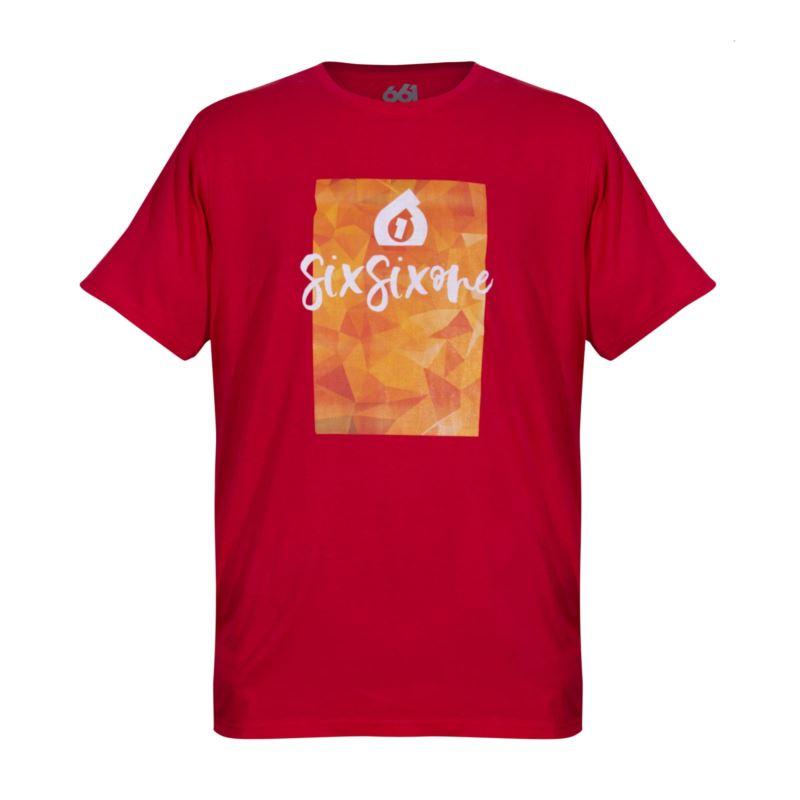 661 T-Shirt SCRIPT czerwony L